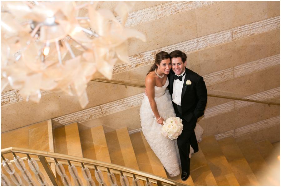 Four Seasons Staircase Wedding Photographer - Elizabeth Bailey Weddings - Evening wedding portrait