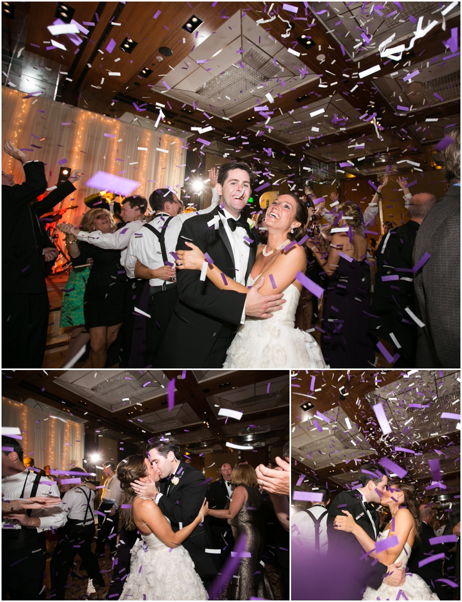 Four Seasons Reception Photographer - Elizabeth Bailey Weddings - Purple Wedding Confetti Canon