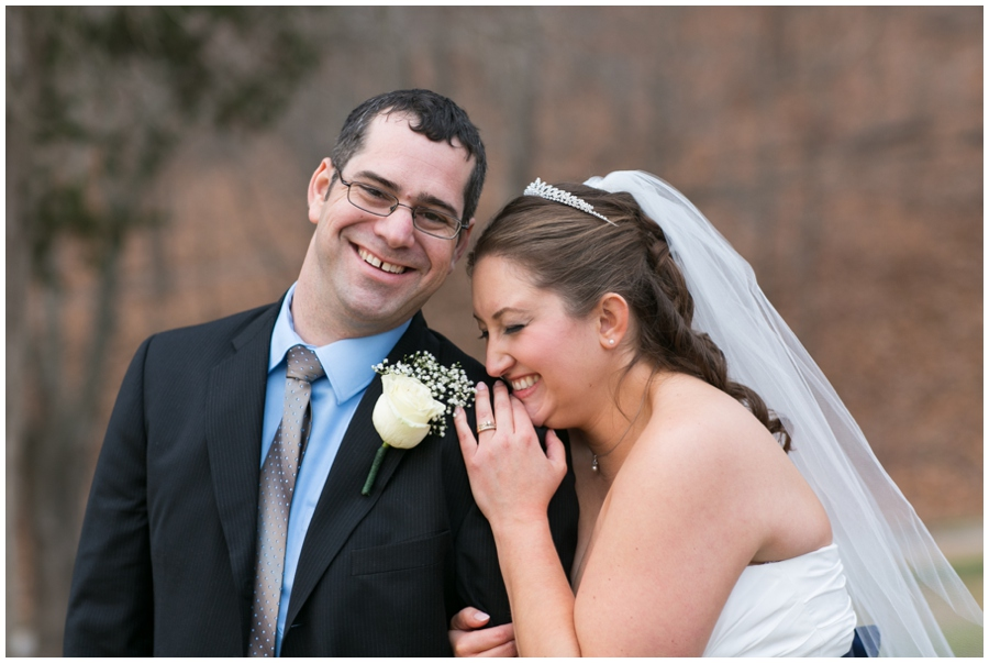Hunt Valley Wedding Couple - Winter Wedding Photography