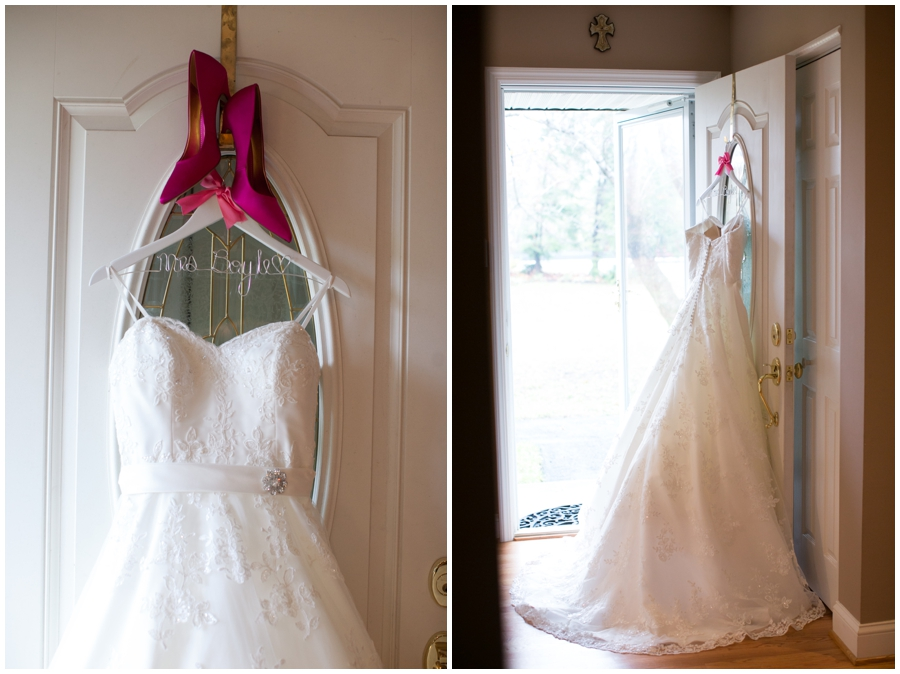 Crofton Wedding Photography - Pink Bridal shoes
