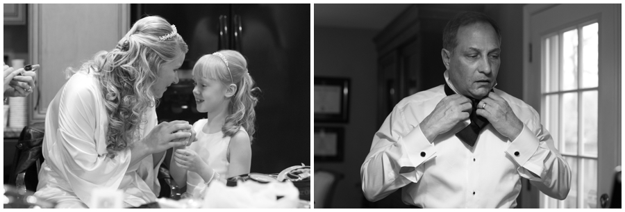 Crofton Wedding Photography - Black and white getting ready
