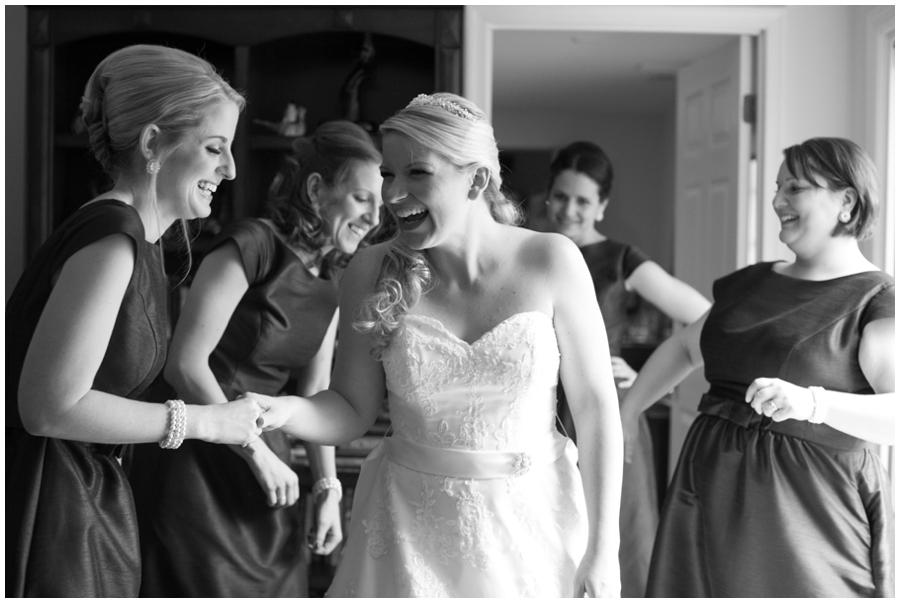 St Marys Annapolis Wedding - Black and white photograph