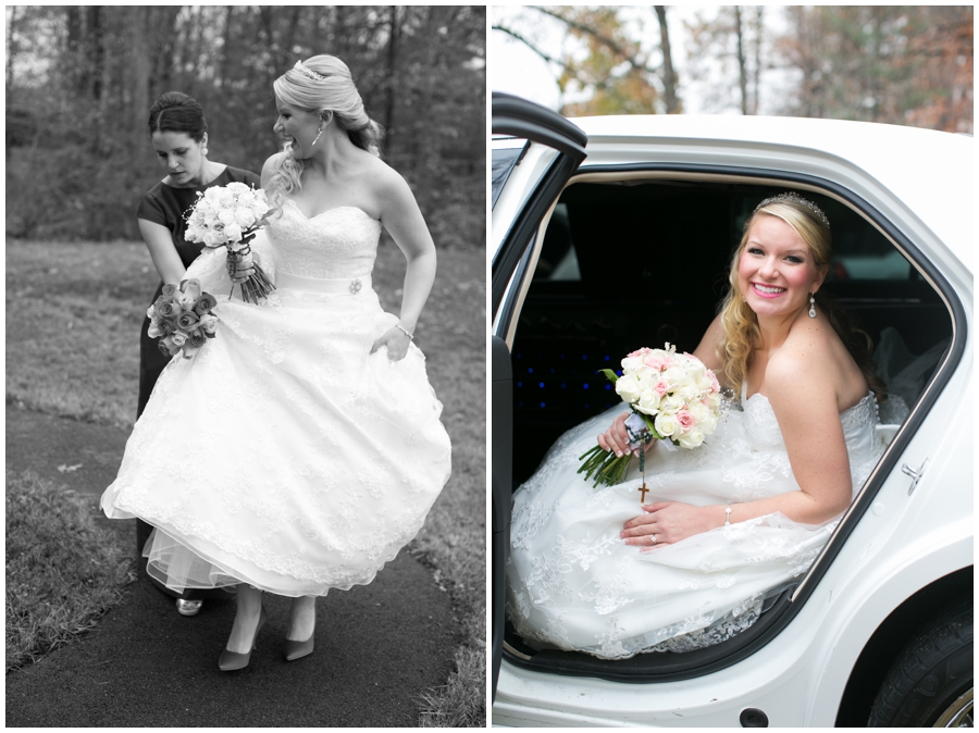 St Marys Annapolis Wedding - Getting Ready photograph - limo