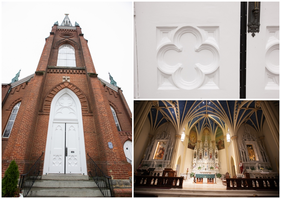 St Marys Annapolis Wedding - Parish Detail Photograph