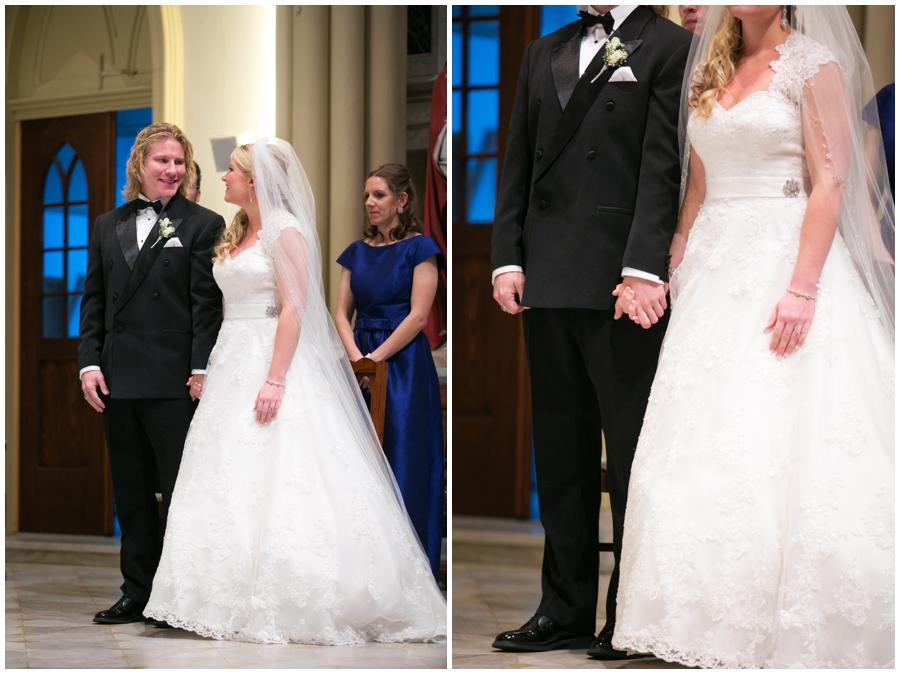 St Mary's Parish Annapolis Wedding Ceremony Photographer
