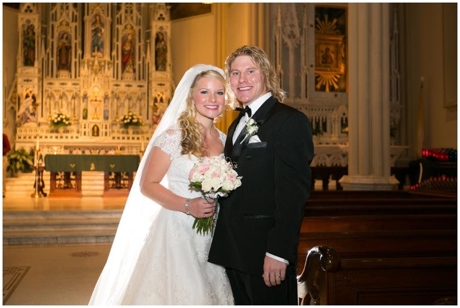 St Mary's Parish Annapolis Wedding Photographer - Bride and groom
