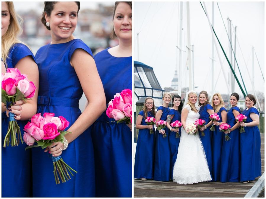 City Dock Annapolis Wedding Party Photograph