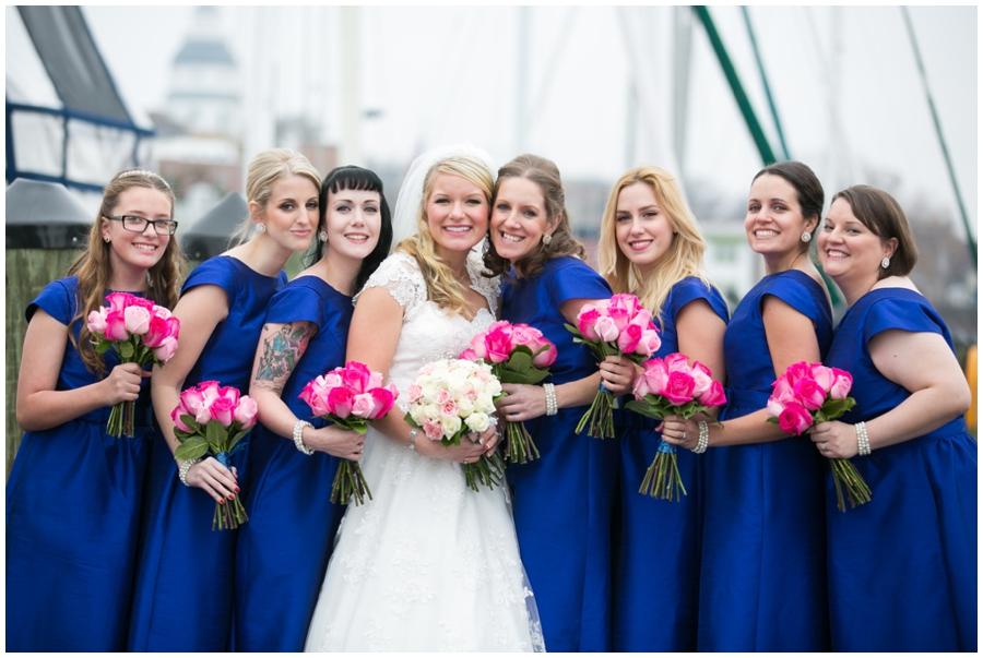 Sheraton Annapolis Winter Wedding Party Photograph