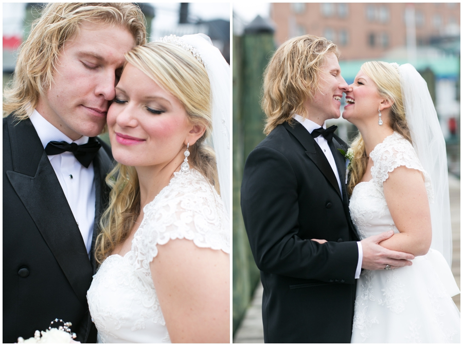 City Dock Annapolis Wedding Photography - Winter Romantic Portrait