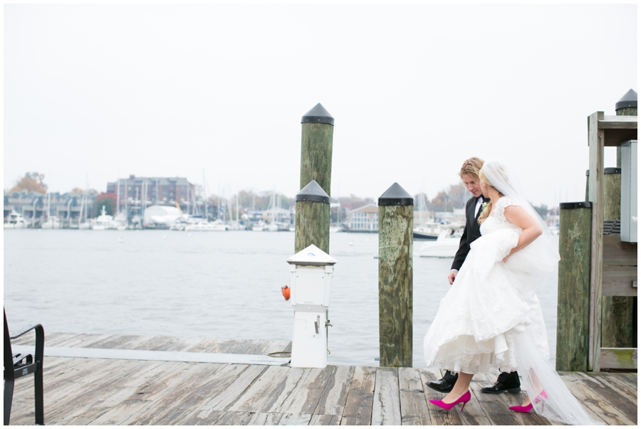 City Dock Annapolis Wedding Photography - Winter wedding Photographer