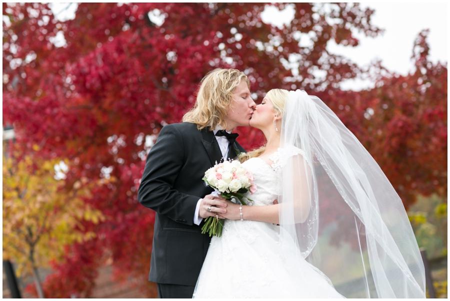Sheraton Annapolis Winter Wedding Photographer - Red tree wedding photograph