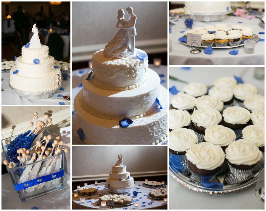 Sheraton Annapolis Winter Wedding Photographer - blue wedding details