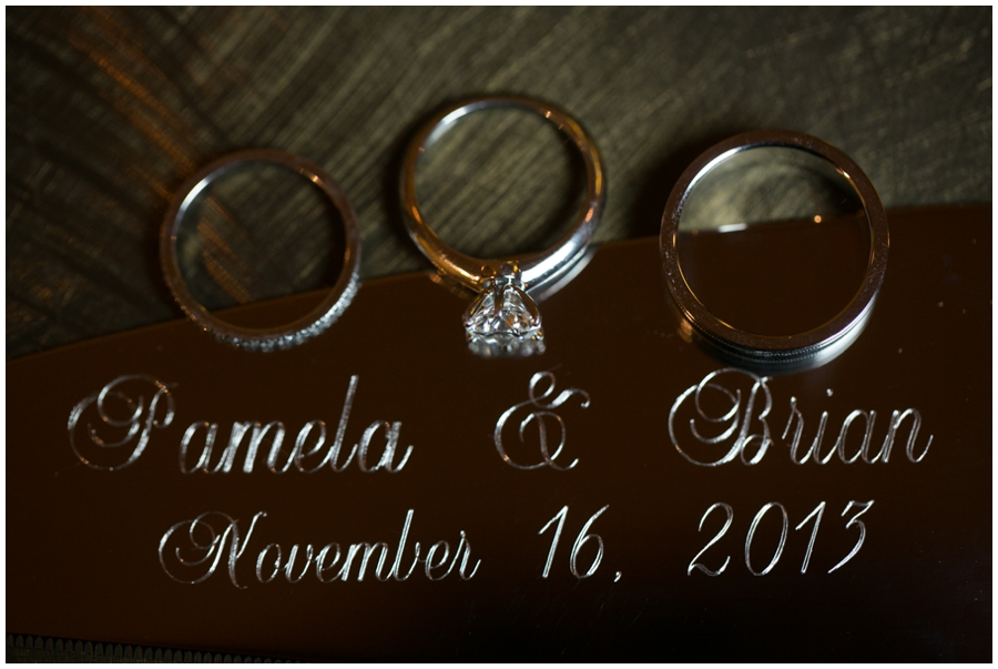 Sheraton Annapolis Winter Wedding Rings - ring detail photograph
