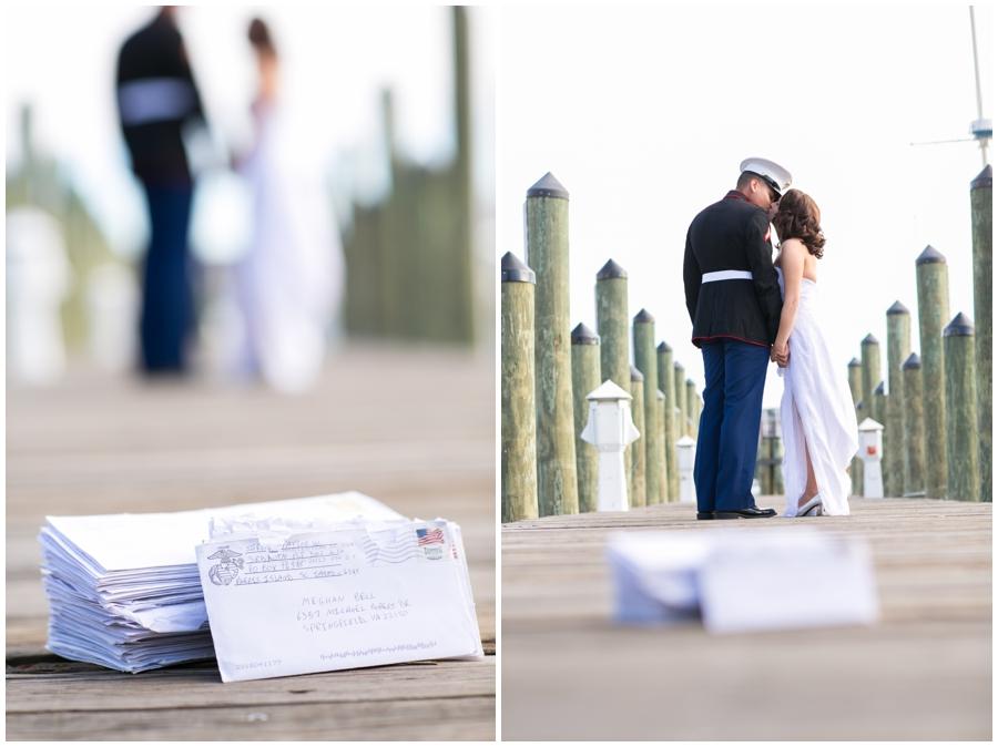Annapolis City Dock Love Letters - Marine elopement