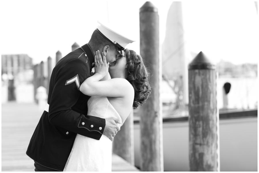 Annapolis City Dock Elopement - Winter Love Photographer