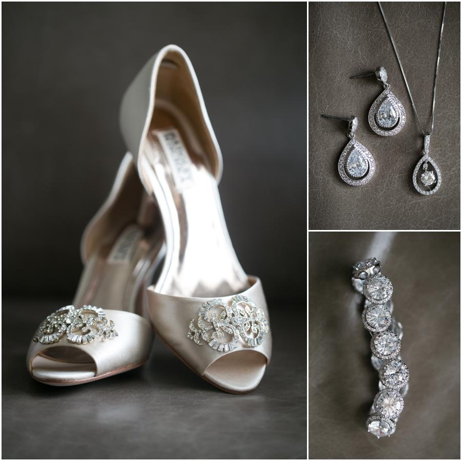 Westin Annapolis Wedding Details - Badgely Mischka Salsa Bridal Shoe