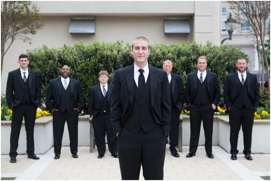 Westin Annapolis Wedding Photographer - Jos. A Banks Groomsmen