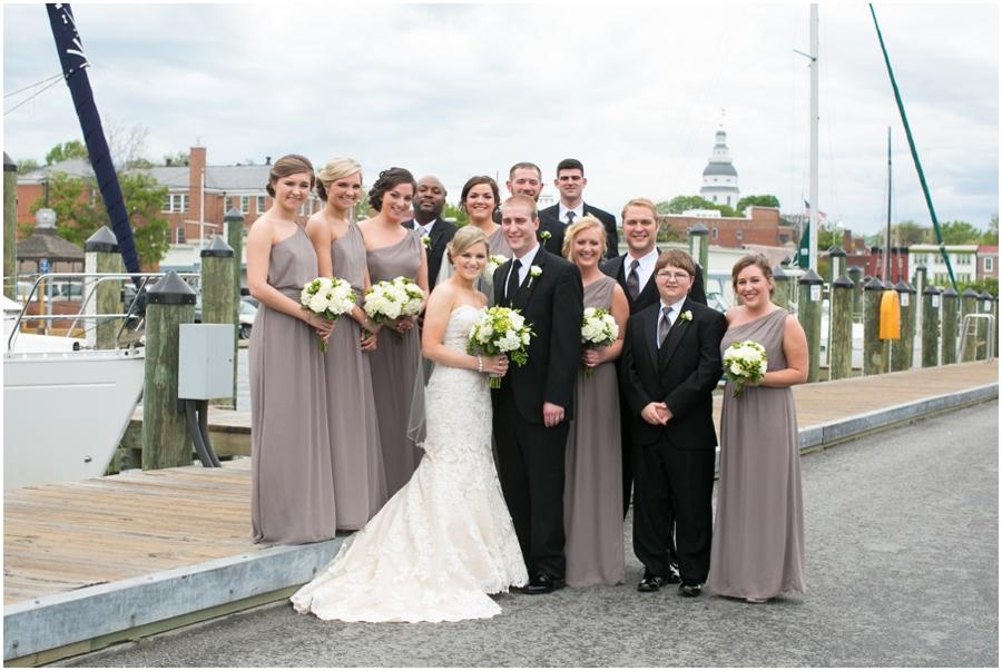 Annapolis MD Wedding Photographer - City Dock Wedding Party