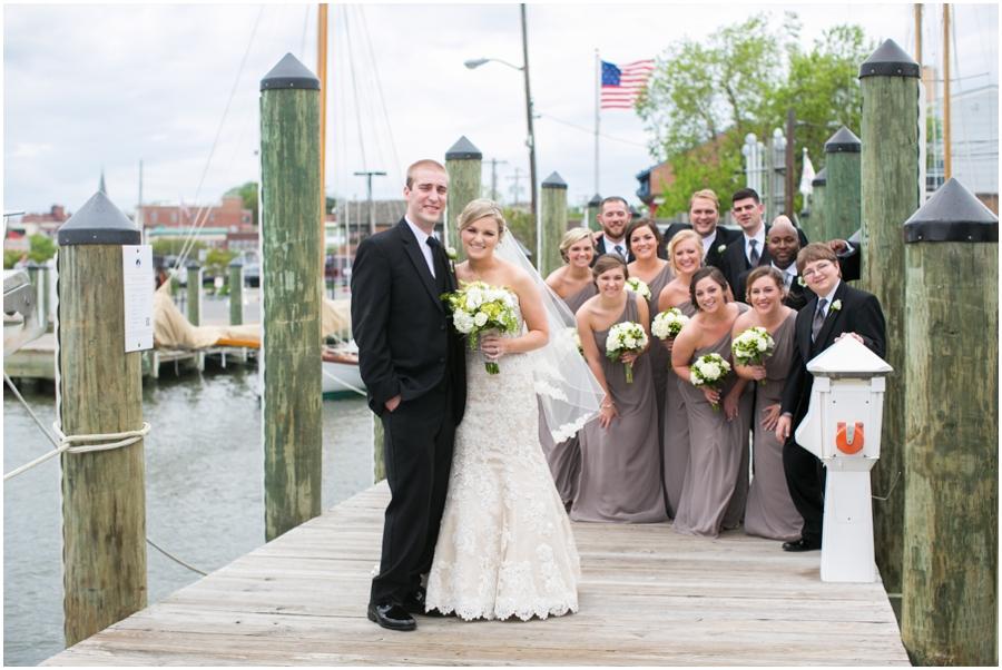 Annapolis MD Wedding Photographer - City Dock Wedding Portrait