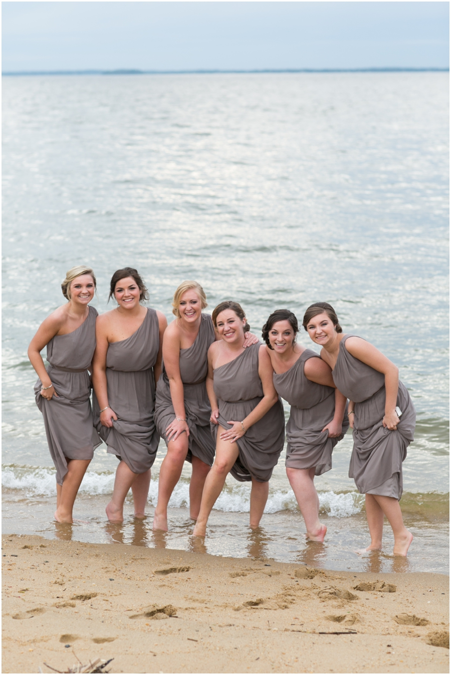Silver Swan Bayside Waterfront Wedding Party - Eastern Shore Wedding Photographer