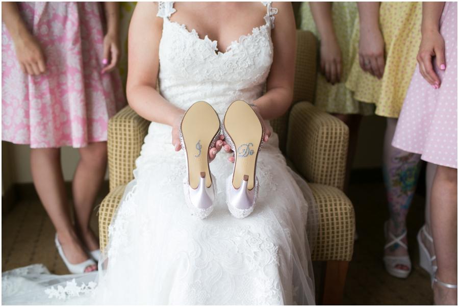 Sheraton Hunt Valley Wedding Photographer - Getting Ready - I Do bridal shoes