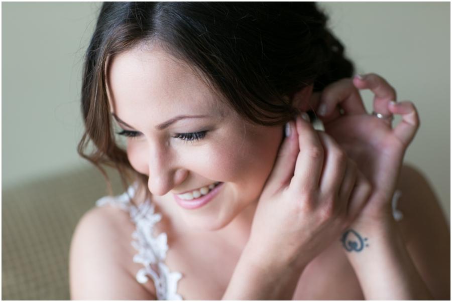 Sheraton Hunt Valley Wedding Photographer - Getting Ready - Birdcage veil - KRM Jewel etsy jewelry
