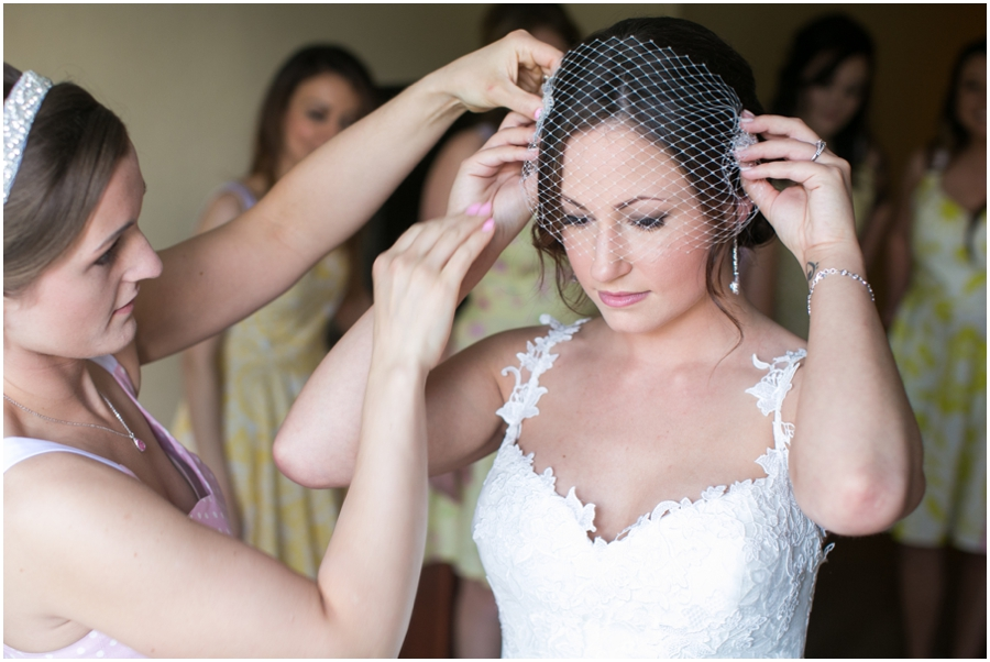 Sheraton Hunt Valley Wedding Photographer - Getting Ready - Birdcage veil