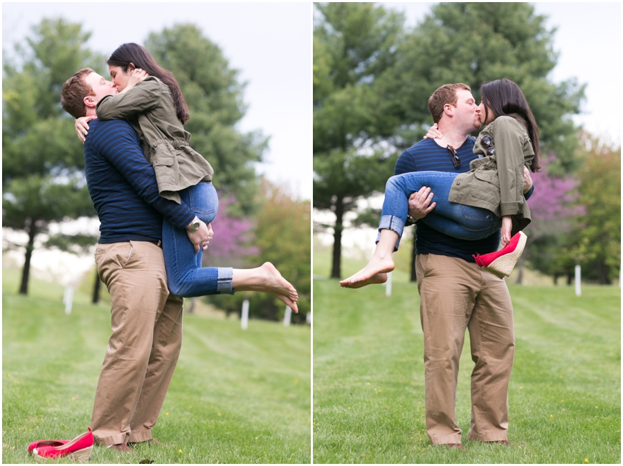 Quiet Waters Park Engagement Photographer - Pittsburgh Engaged Couple