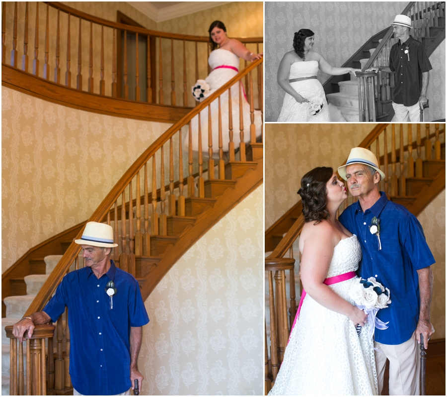 Sunset Crest Manor Wedding - Father Daughter First Look