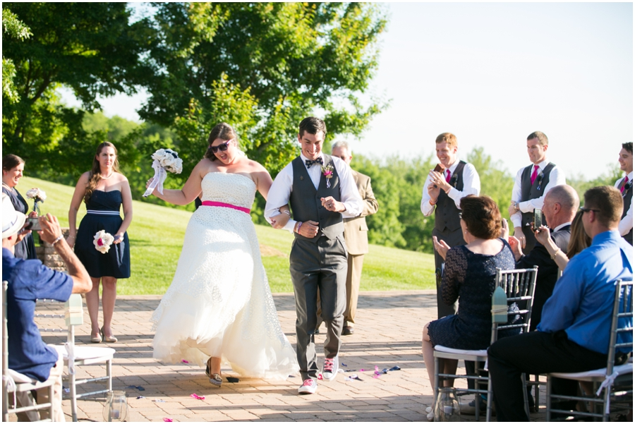 Sunset Crest Manor Ceremony - Chantilly Va Outdoor Wedding