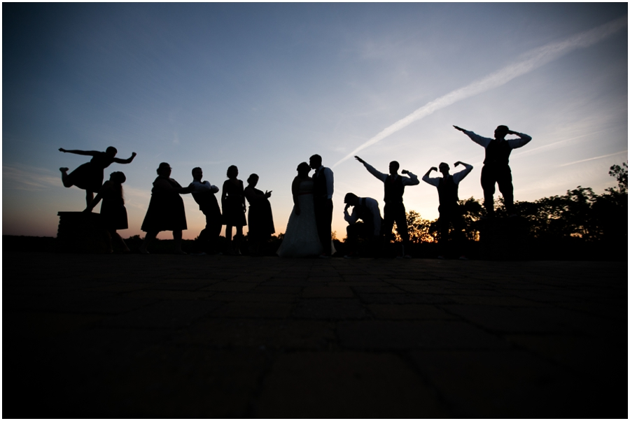 Sunset Crest Manor Sunset Wedding Party - Chantilly Va Wedding Photographer