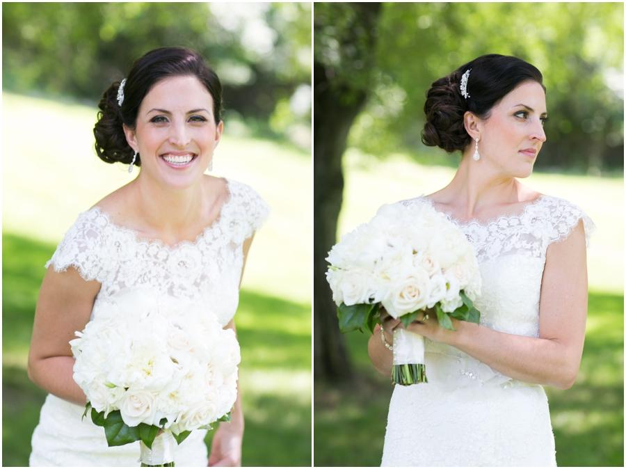 Oakland, NJ Bridal Portrait - Allure Bridal Gown - Conroy's Florist