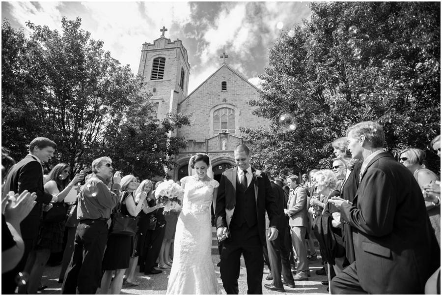 St Mary's Church Pompton Lakes Wedding Photographer - Bubbles Exit