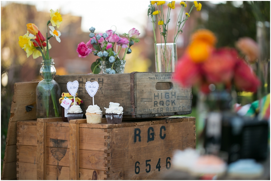 Just Simply Delicious Wedding Cupcakes - XOXO Vintage Rentals - Styled Picnic Engagement Session