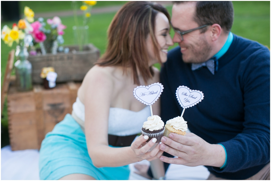 Just Simply Delicious Wedding Cupcakes - Styled Picnic Engagement Photograph