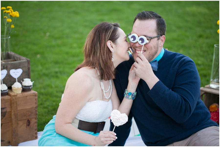 Just Simply Delicious Wedding Cookies - Styled Picnic Engagement Photograph