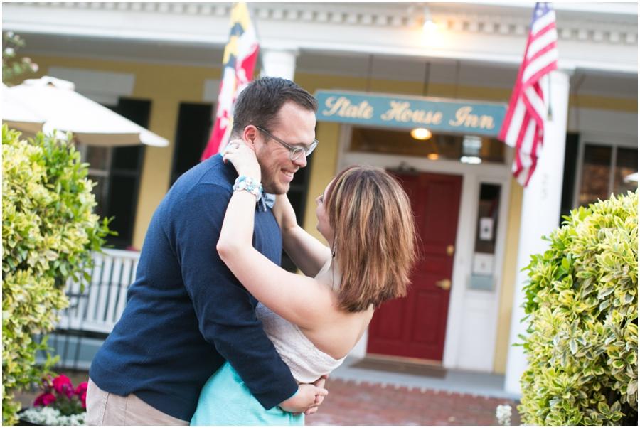 State House Inn - Annapolis Engagement Photographer