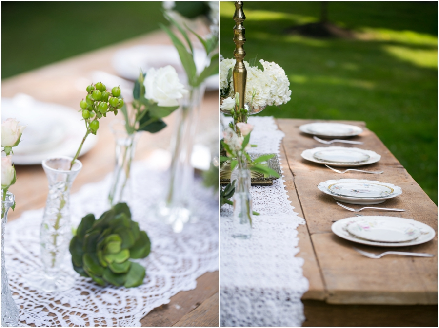 Anthony Wayne House Table Decor Inspiration - Philadelphia Wedding Photographer - Flowers by Priscilla - 2hands Studios