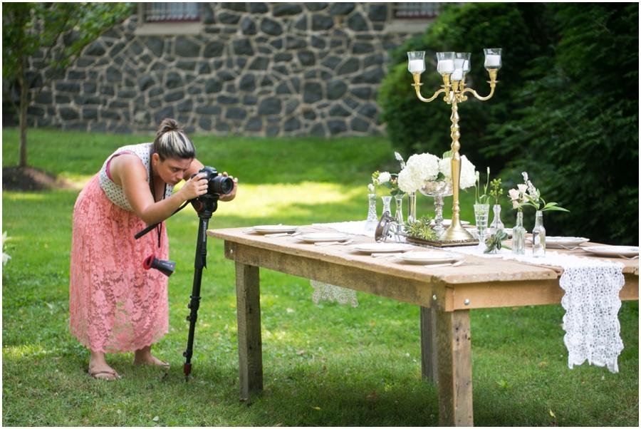 Anthony Wayne House Wedding Inspiration - Philadelphia Wedding Photographer - Danfredo Photography BTS
