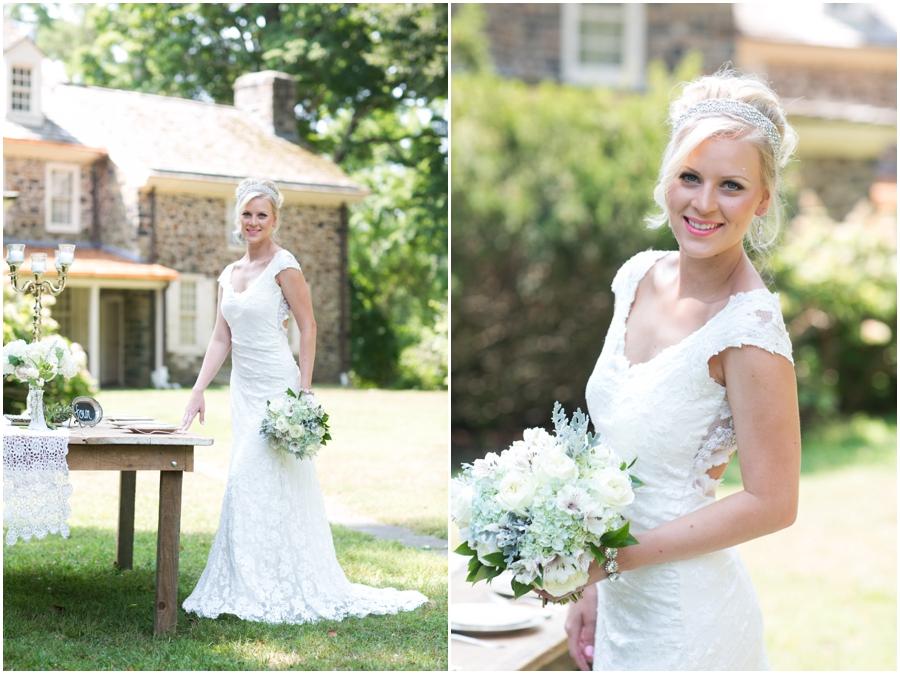 Anthony Wayne House Bridal Photographer - Philadelphia Styled Shoot - Flowers by Priscilla