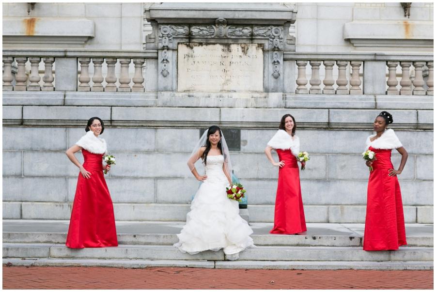 Annapolis Winter Wedding - Mahan Hall Bridal Photographs