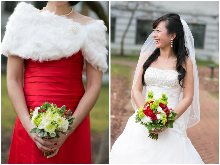 Annapolis Winter Wedding - Mahan Hall Bridal Photographer