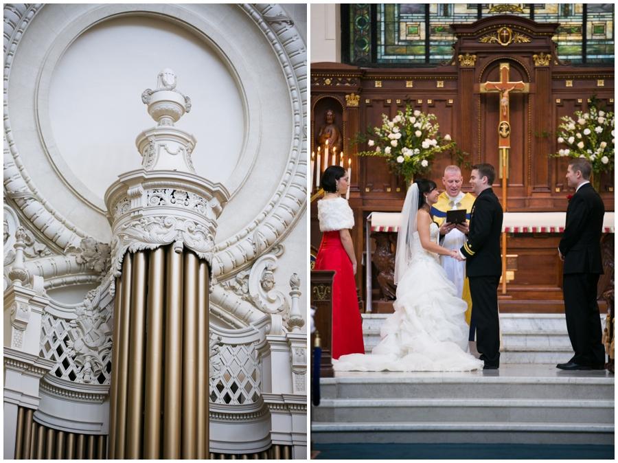 Annapolis Winter Wedding - USNA Wedding Ceremony Photographer