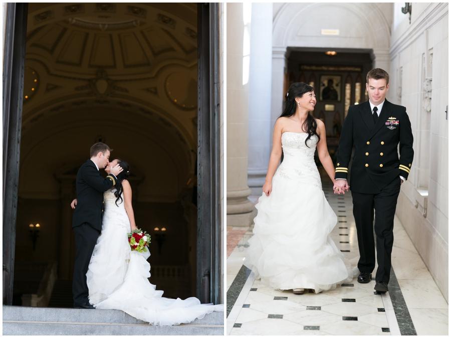Annapolis Winter Wedding - USNA Bancroft Hall Wedding Photographer