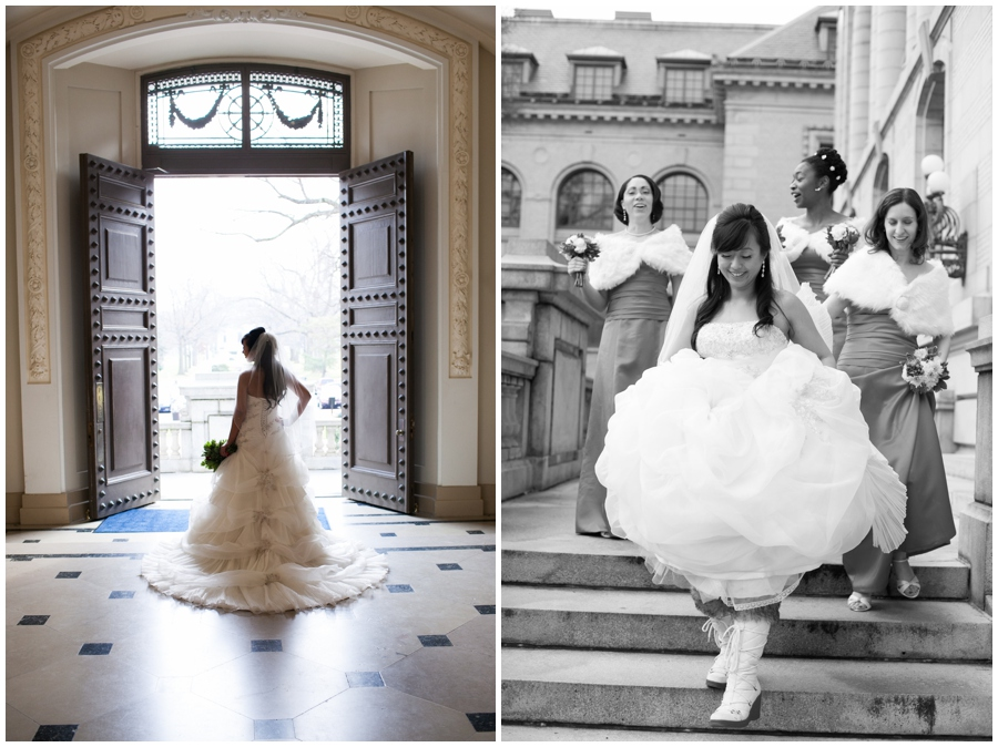 Annapolis Winter Wedding - Mahan Hall Wedding Photographer