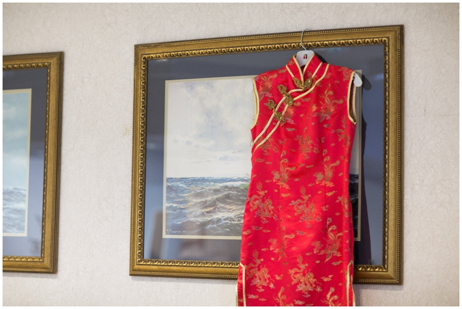 Annapolis Winter Wedding - Cafe Bretton - Quipao Chinese Reception Dress