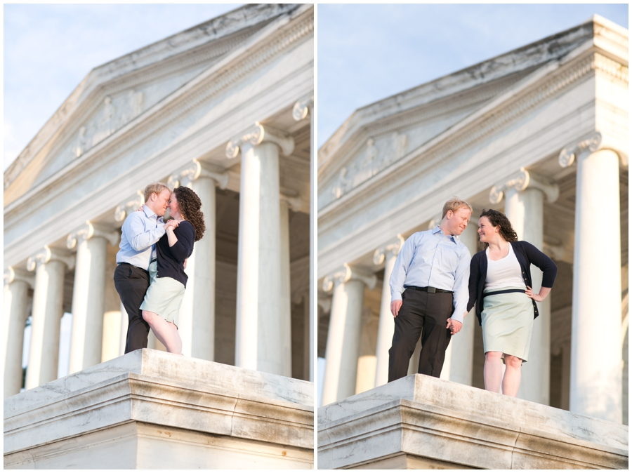 Jefferson Monument Engagement Photographer - Elizabeth Bailey Weddings