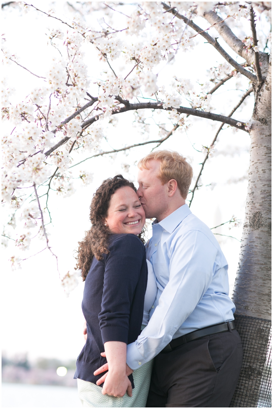 Cherry Blossom DC Engagement Photographer - Elizabeth Bailey Weddings