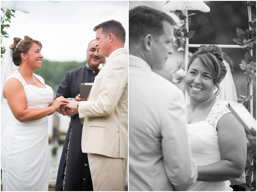 Annapolis Elopement Photographer - Waterfront Intimate Wedding Ceremony
