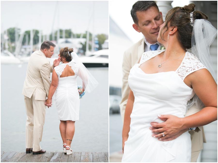 Annapolis Elopement Photographer - City Dock Navy Wedding